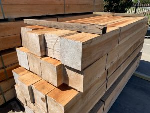 spotted gum 200x200 posts Kazman Timber